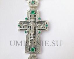 Крест  серебряный на гайтане