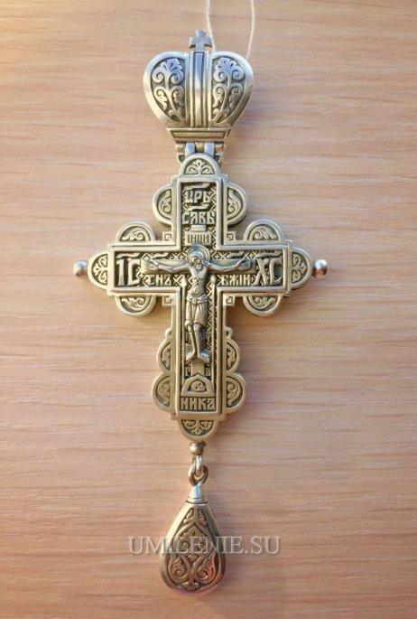 Крест-мощевик серебряный