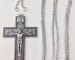 крест наперсный кабинетный серебряный