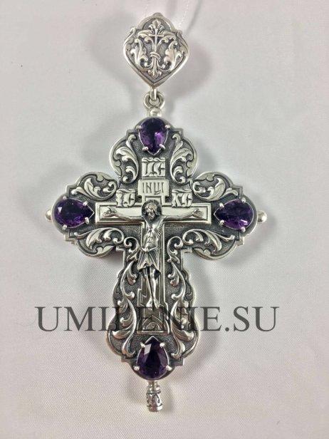 Крест-мощевик серебряный без цепи