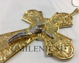 Крест латунный в позолоте (в честь преп.Серафима Саровского)
