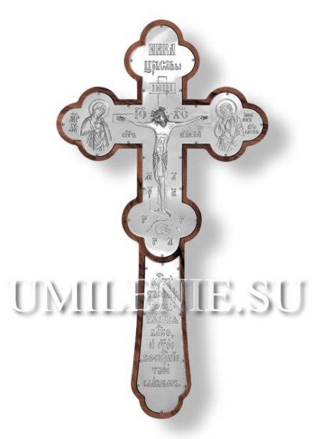 Крест напрестольный серебреный