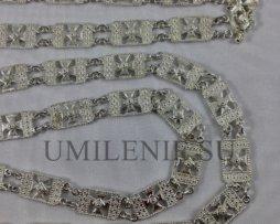 Цепь церковная латунная в серебрении
