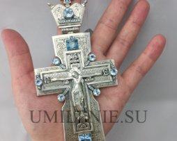 крест серебряный с украшениями для священника