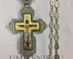 Крест серебряный с цепью