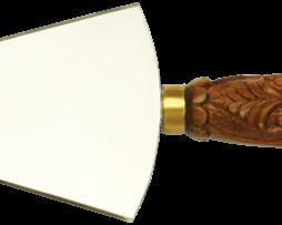Копие большое с латунной накладкой в позолоте и деревянной ручкой