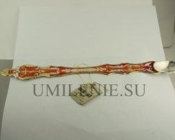 Лжица латунная в позолоте с эмалью