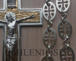 Крест протоиерейский с фрагментальной позолотой.