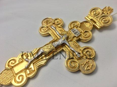 Крест наперсный в позолоте с цепью
