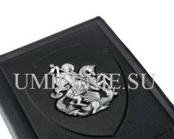 Обложка для паспорта кожаная Георгий Победоносец. Серебро. Подарки, сувениры