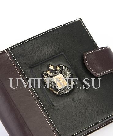 Бумажник кожаный_Родина_серебро_подарки_сувениры