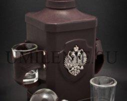 Штоф стеклянный_Империя_кожа_сувенир_подарки_сувениры