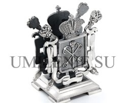 подставка для визиток серебряная_серебро_подарки_сувениры