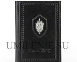 Обложка для паспорта_кожа_серебро_подарки_сувениры