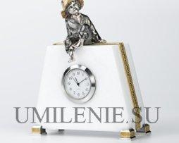 Часы_мрамор_серебро_позолота_подарки_сувениры