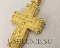 Крест нательный латунный в позолоте без цепи