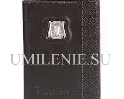 Обложка для паспорта_Икона_кожа_серебро_подарок_сувенир