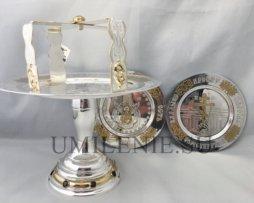 евхаристический набор с потиром на 1 литр латунный комбинированный