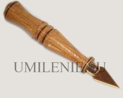 Копие малое с деревянной ручкой_нержавеющая сталь