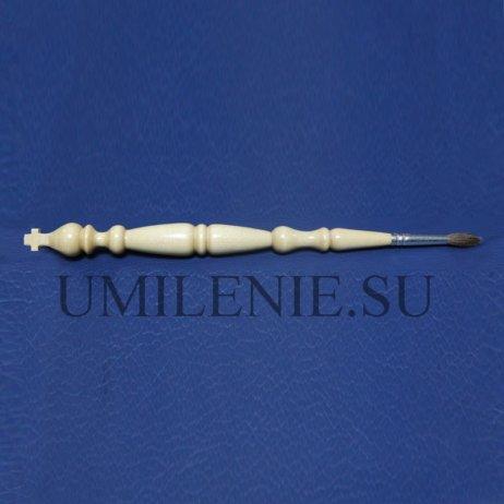 Кисть для елея с деревянной ручкой