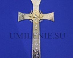 Крест напрестольный латунный