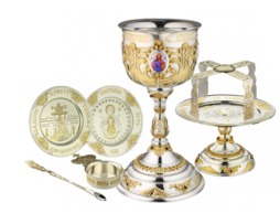 Набор евхаристический серебряный с потиром на 0,75 литра