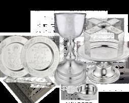 Набор евхаристический серебряный с потиром на 1,0 литр с эксклюзивной гравировкой