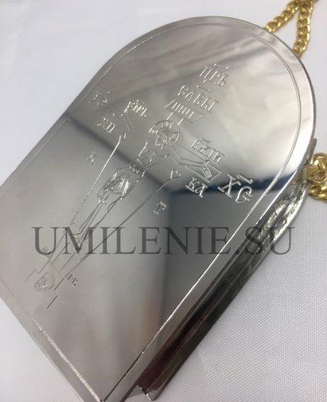 Дароносица латунная в серебрении