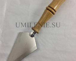 Копие большое с резной деревянной ручкой