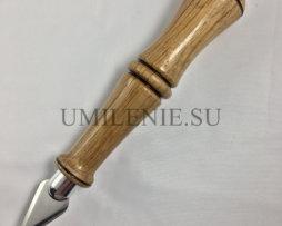 Копие малое с резной деревянной ручкой