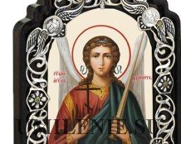 Икона настольная латунная - Ангел Хранитель