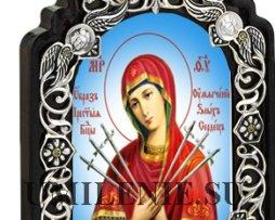 Икона настольная латунная - Богородица Умягчение злых сердец_Артикул 2.78.0809л