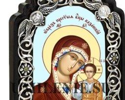 Икона настольная латунная - Богородица _Казанская