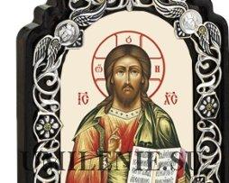 Икона настольная латунная - Господь Вседержитель