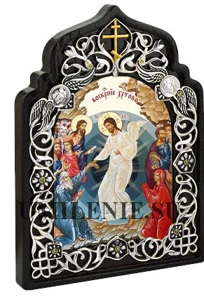 Икона настольная латунная - Воскресение Христово