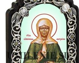 Икона настольная латунная - святая блаженная Матрона Московская