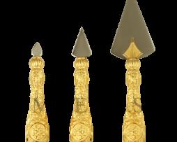 Копие набор латунный с гравировкой в позолоте