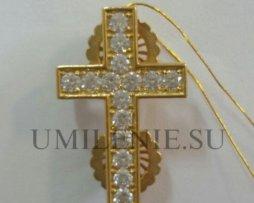Крест на клобук серебряный в позолоте
