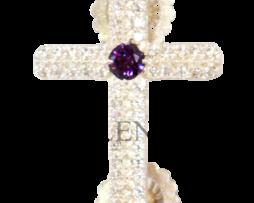 Крест на клобук серебряный