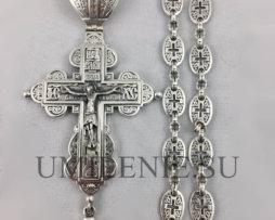 Крест наперсный серебряный с украшениями