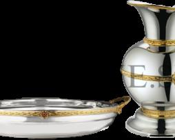 Набор для омовения рук в никелировании с позолотой