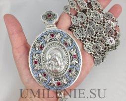 панагия серебряная с цепью для священников