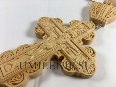 Крест наперсный деревянный с цепью