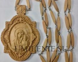 Панагия деревянная с цепью
