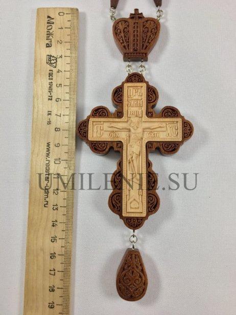 Крест наперсный деревянный с цепью для священника