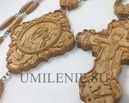 Архиерейский наперсный комплект деревянный с цепями
