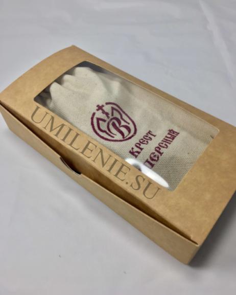 Коробка картонная подарочная для креста наперсного деревянного