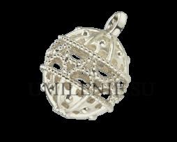 Пуговица латунная в серебрении для архиерейского облачения