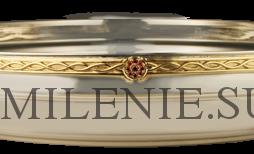 Чаша для омовения рук латунная никелированная с позолотой