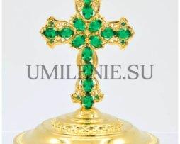 Крест на митру латунный в позолоте